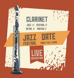 Jazz festival design vector