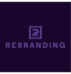 Letter R logo flat style of vector image vector image