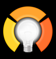 light bulb infographic template for lamp diagram vector image vector image