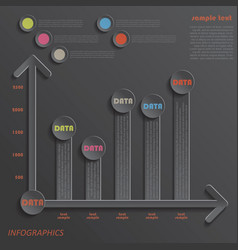 Modern template infographics design data presentat vector image vector image