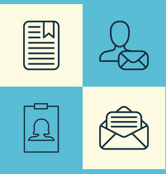 Network icons set collection of note page online vector
