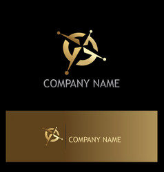 North star adventure gold company logo vector