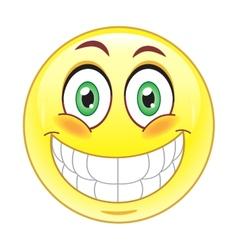 PBig smile emoticonrint vector image vector image