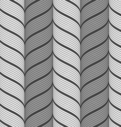 Ribbons gray vertical chevron pattern vector image