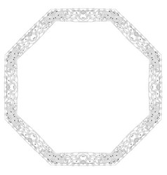 Round frame for coloring decorative vector