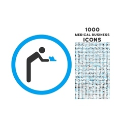 Servant rounded icon with 1000 bonus icons vector