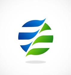 swirl round globe communication logo vector image vector image