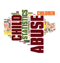 The latest child abuse statistics text background vector