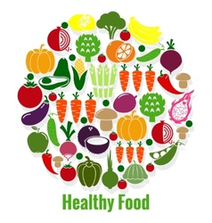 Vegetables healthy food vector image vector image