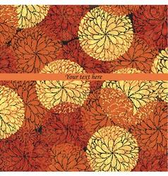 Vintage flowers pattern card vector