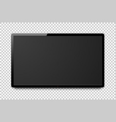 wide realistic 4k tv screen vector image