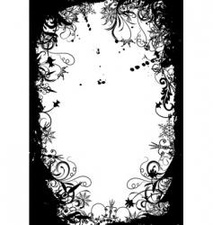 winter grunge floral background vector vector image