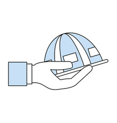 Worker helmet cartoon vector