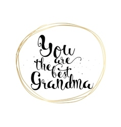 You are the best grandma inscription Greeting vector image