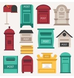 Post mailbox set vector image