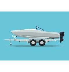 Boat vehicle and transportation design vector