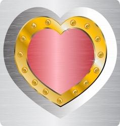 metallic valentine vector image