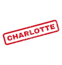Charlotte rubber stamp vector
