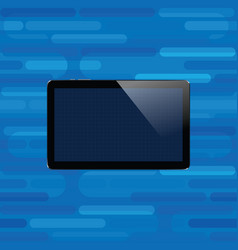 Digital tablet with shiny sensor screen electronic vector