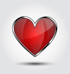 Heart shield vector