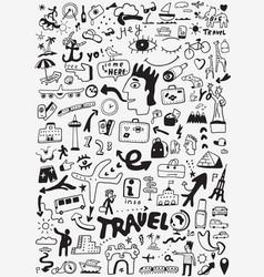 travel transportation doodle vector image