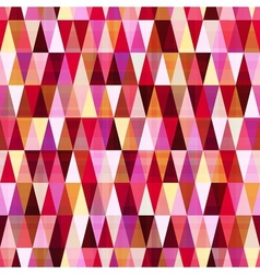 Seamless geometric red pattern vector