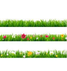 grass borders set vector image