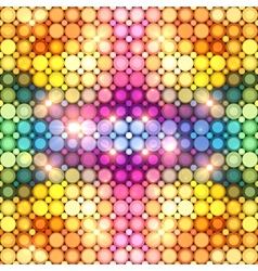 Colorful shining disco lights abstract background vector