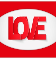 Background Red Letter Love vector image