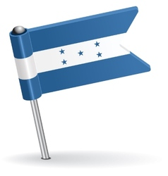 Honduras pin icon flag vector