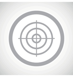 Grey aim sign icon vector