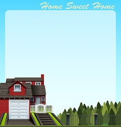 Border design with home sweet home vector