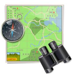 Camping map vector