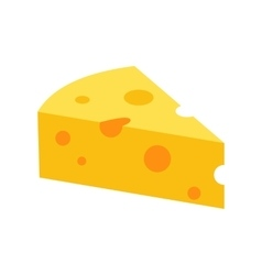French cheese icon flat style vector