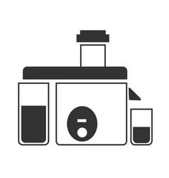 a gray juicer icon vector image vector image