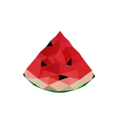 Abstract origami watermelon vector