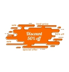 Abstract tag with discount vector image vector image