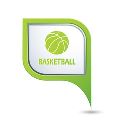 basketball GREENpointer vector image