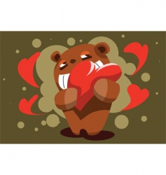 bear love vector image vector image
