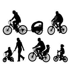 Bicyclists vector