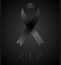 Black mourning tape and rip inscription vector