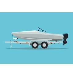 Boat vehicle and transportation design vector
