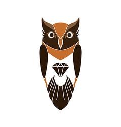 decorative owl art vector image