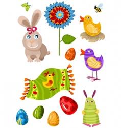 Easter set vector