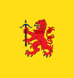 Flag of smaland is a historical province of sweden vector