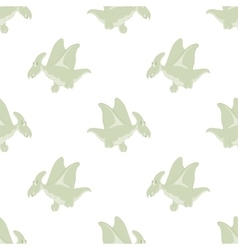 Flying dinosaurs on a white background vector