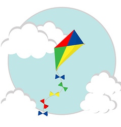 Flying kite vector image