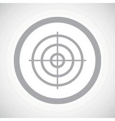 Grey aim sign icon vector
