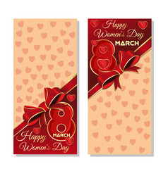 happy international womens day festive background vector image