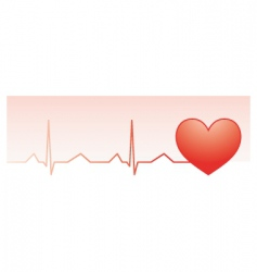 heart pulse monitor vector image vector image